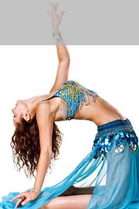 ベリーダンスを踊っている写真