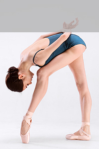 バレエを踊っている写真